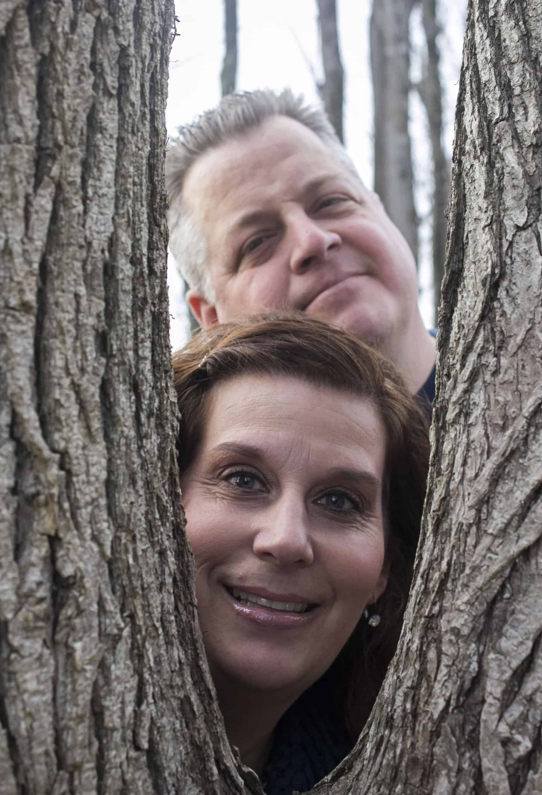 parents portrait outdoors in nature