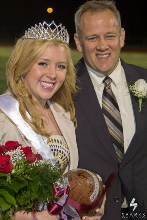 High School Homecoming Photo Daughter and Dad